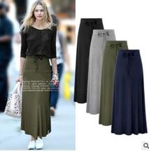 Fashion Slim skirt new large size package hip autumn and winter split female