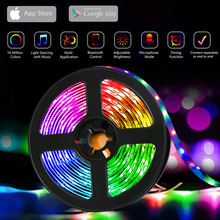 10M 20M WiFi LED Strip Light RGB 5050 Lights Music Sync Color Changing, App Controlled LED Lights  living room decoration