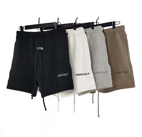 Best Version Fog Essentials 3M Reflection Logo Printed Women Men Casual Shorts Beach Shorts Hiphop Men Cotton Shorts Pants