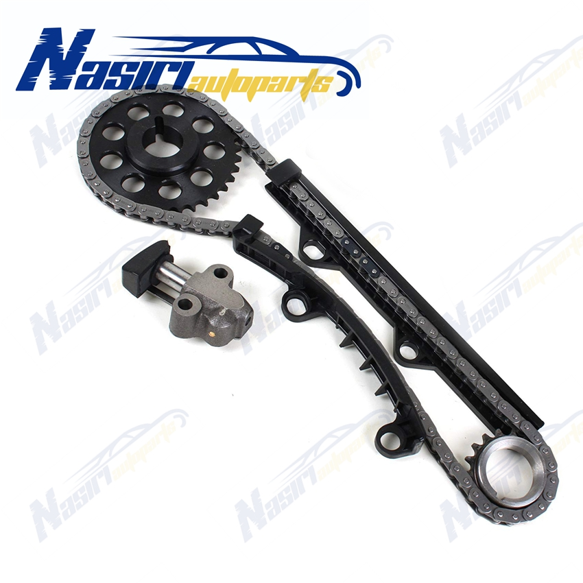 85-95 Toyota 2.4L Timing Chain Kit +Timing Cover 22R 22RE 22REC 2 Steel Guides