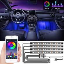 Bande lumineuse LED RGB avec télécommande sans fil USB, plusieurs Modes d'éclairage, lumière d'ambiance pour l'intérieur de la voiture