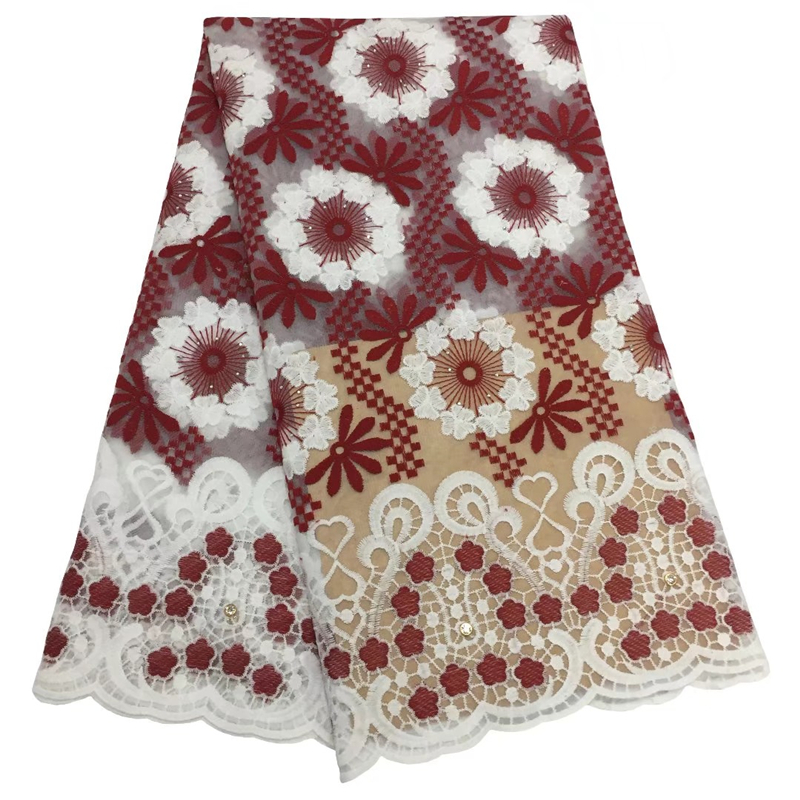 Best Selling African Lace Fabric 2020 High Quality Nigerian French Laces With Beads Embroidery Tulle Lace Fabric For Woman Dress