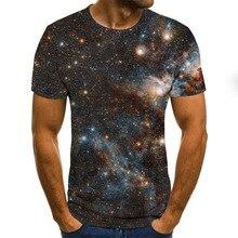 3D Starry sky  boys T Shirts kids romantic Print Summer Tops boys clothes camisetas T-Shirt casual  XXS-6XL