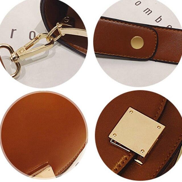 Mododiino Vintage Crossbody Bags For Women 2019  Female Small Saddle Bag Leather Shoulder Bag Luxury Women Bag Designer DNV1057 4