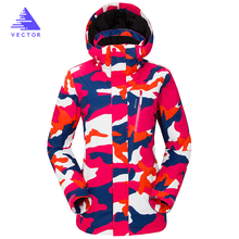 VECTOR Professional Women Windproof Waterproof Ski Jacket Coats Winter Warm Outdoor Sport Snow Skiing Snowboarding Clothing  wholesales women ski jacket outdoor sports mountaineering snowboarding clothing 10k waterproof windproof breathable snow costume