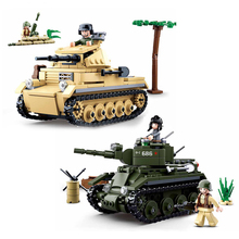 347PCS Technik Military Tank Building Blocks Model Figures Compatible Brand Army WW2 Soldier Police Weapon Bricks Sets Toy Gfit