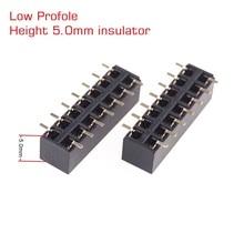 "100 pcs Low Profile SMT หญิงหัวซ็อกเก็ต 2.54 มม.0.100 ""PITCH 2x7 Pin 14 ตำแหน่ง DUAL แถว Surface Mount ความสูง 5.0 มม."