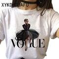 Vogue t camisa feminina 90s tumblr impressão moda tshirt ulzzang estético o-pescoço harajuku t-camisa superior camisetas femininas roupas casuais