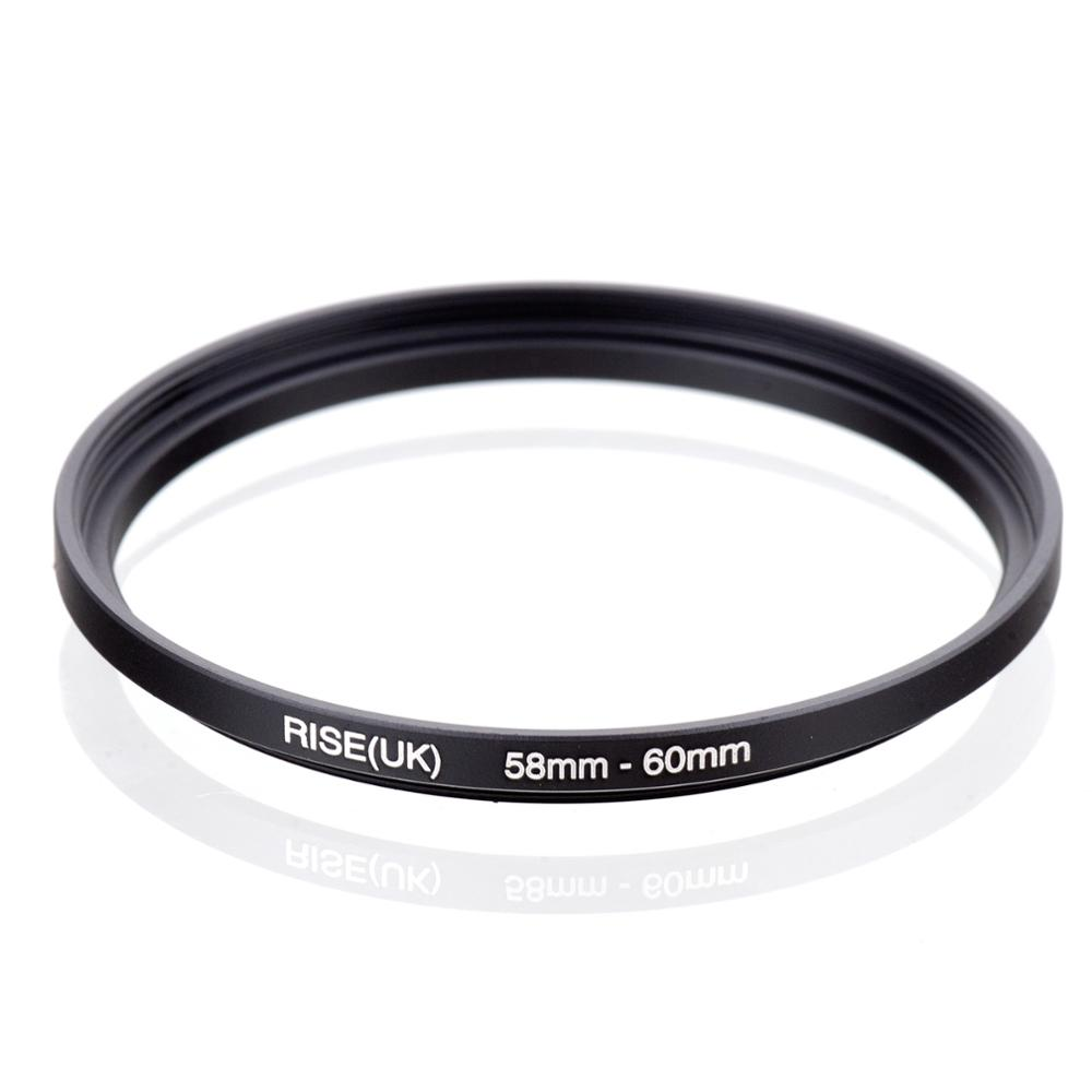RISE(UK) 58mm-60mm 58-60 Mm 58 To 60 Step Up Filter Ring Adapter