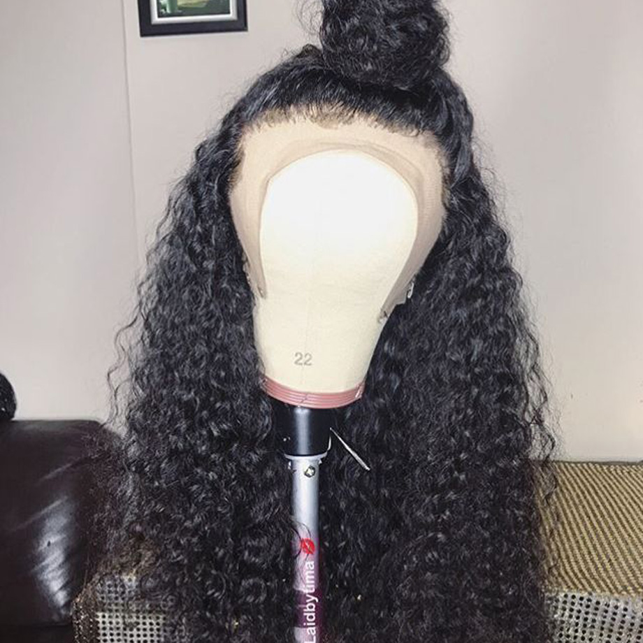 Image 5 - Kinky curly human hair wig Brazilian Lace Front Human Hair Wigs Natural Remy Hair For Black Women PrePlucked with Baby Hair 13x4-in Human Hair Lace Wigs from Hair Extensions & Wigs