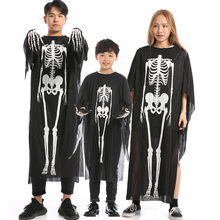Halloween costume children adult horror play skeleton clothes print devil cosplay carnival gloves holida
