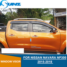 Car door visor For Nissan Navara Np300 2015-2018 window rain protector For Nissan Navara Frontier 2015 2016 2017 2018 SUNZ цена в Москве и Питере