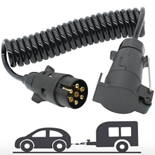 3M 7 Pin Anhänger Lkw Licht Bord Verlängerung Kabel Blei Männlichen Zu Weiblichen Draht Steckdose Draht Teil Kupplungen schaltung Steckdose