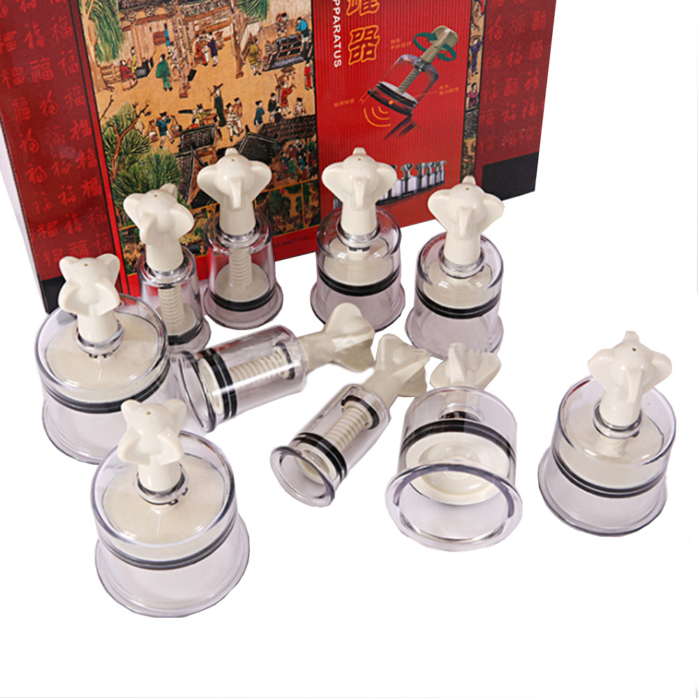 Rotating Handle Vacuum Body Massage Suction Cans Cupping Set Enhancer Anti Cellulite Chinese Acupuncture Vacuum Cupping Cups