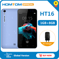 Original version HOMTOM HT16 Android 6.0 Smartphone Quad Core MTK6580 5.0 Full Screen Mobile Phone Smart Gestures Cell Phone