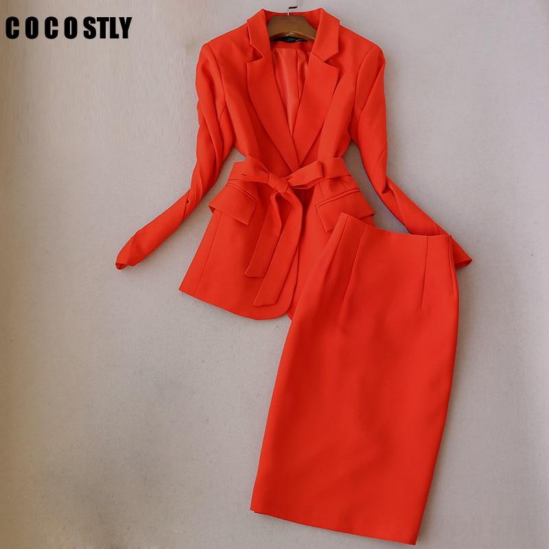 Office Clothes Women Skirt Suits Two Piece Set Uniform Designs Women Elegant Skirt Formal Suits Ladies Business Outfits Suit