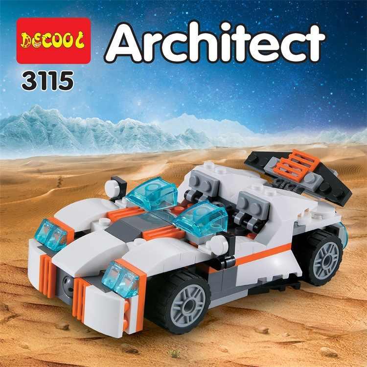 Decool 3115 ville createur 3 dans 1 avenir flyers robô blocos de construção para enfants jouets compatível 31034