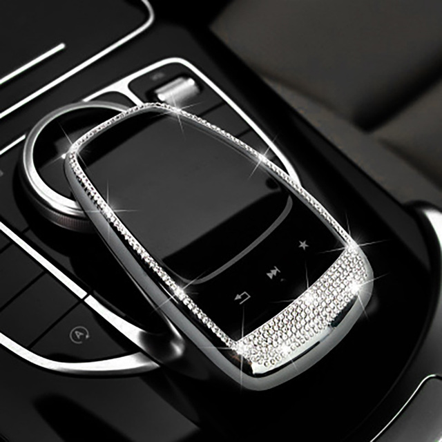 Car Styling Central Control Mouse Diamond Cover Trim for Mercedes Benz E C GLC Class W213 E200L W205 C200L C180L GLC200 260 300 1