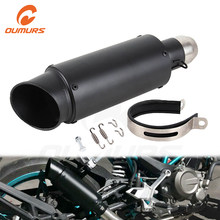 OUMURS Motorcycle Scooter ATV Exhaust Muffler Pipe Escape Black Fits for Honda CBR250 CB400 YZF FZ400 Z750 NINJA TMAX530 for