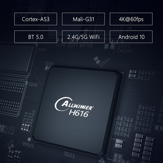 Transpeed X96 Android 10 TV BOX Allwinner H616 Youtube 32GB 64GB dual wifi Bluetooth 1080 TVBOX asistente de voz