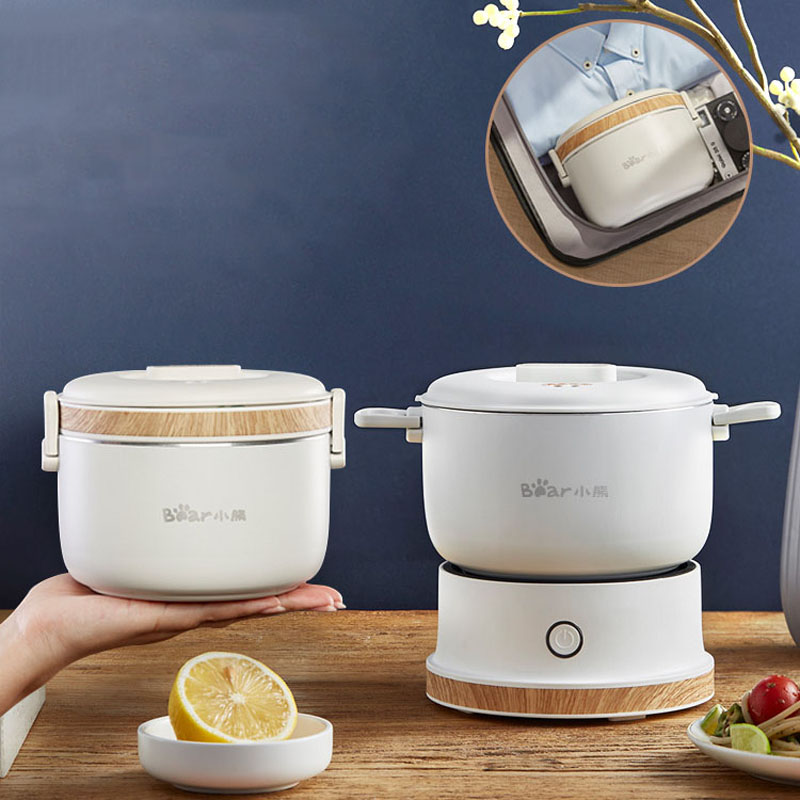110-240V Folding Electric Hot Pot Multicooker Mini Portable Travel  Electric Cooker Split Type Cooking Pot Hotpot 1L