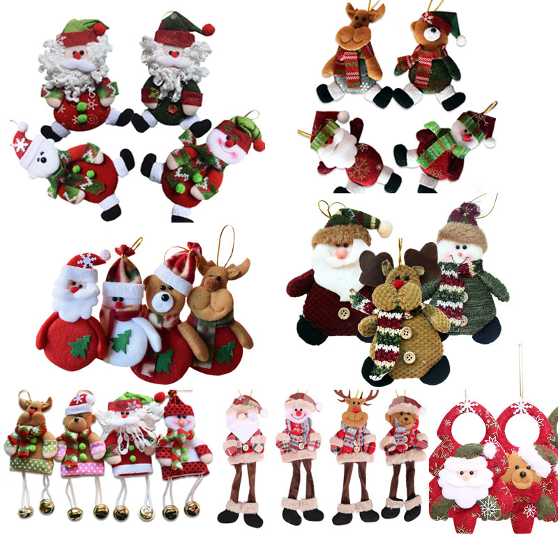 Christmas Decorations For Home Pendants Navidad Christmas Tree Ornaments Hanging Doll Craft Decor Supplier  Kids Gift Sd206