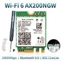 Wireless Dual Band 2400Mbps WiFi 6 Für Intel AX200 NGFF M.2 Bluetooth 5,0 Netzwerk Karte AX200NGW Adapter 2,4G/5Ghz 802,11 ac/ax