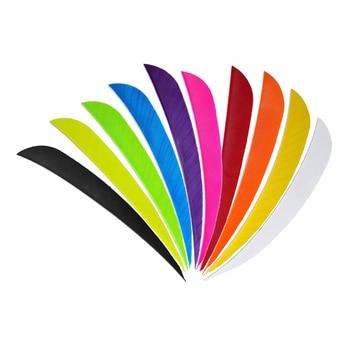 Pluma de flecha de tiro con arco de 12 uds, 3 , Fletches naturales, Turquía, Fletching, gota de agua DIY