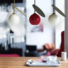 Nordic Iron Glass Pendant Lights Hanging Lamp Lighting Dining Living Room Bedside Bedroom Loft