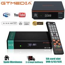 Hot sale Gtmedia V8X Satelite Decoder DVB S2X Updated GT media V8 Nova H.265 1080P Built in wifi V9 Prime Digital Receptor no ap