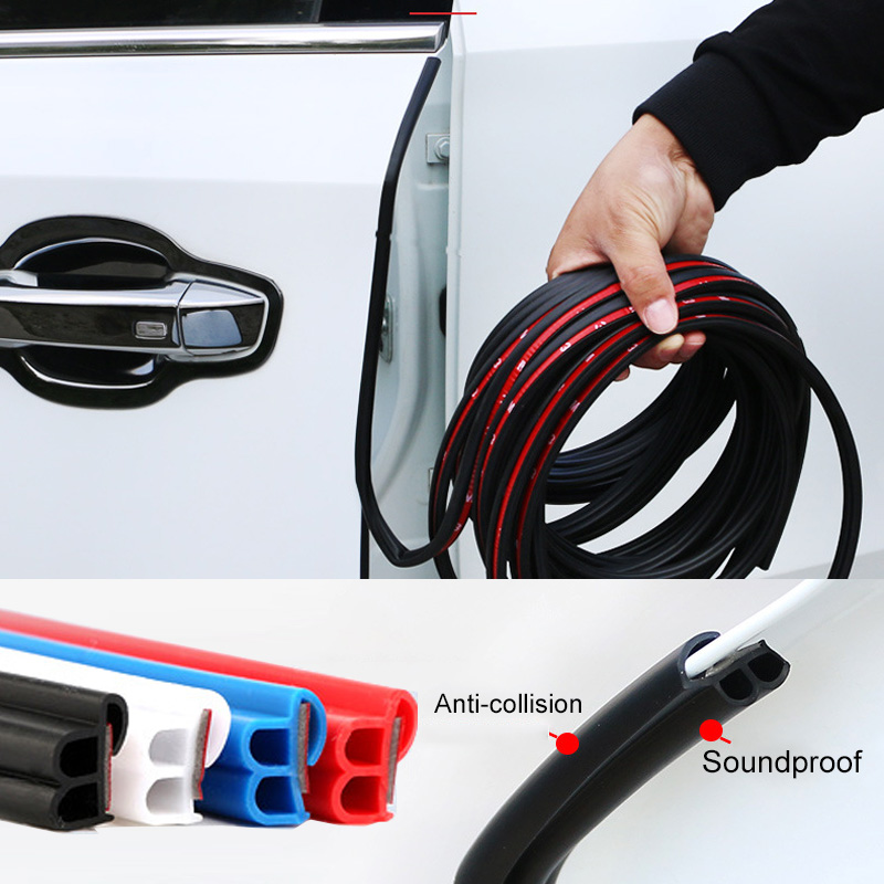 Universal Rubber Car Seal Strip Car Door Edge Guards Trim Styling Moulding Protection Strip Scratch Protector For Vehicle