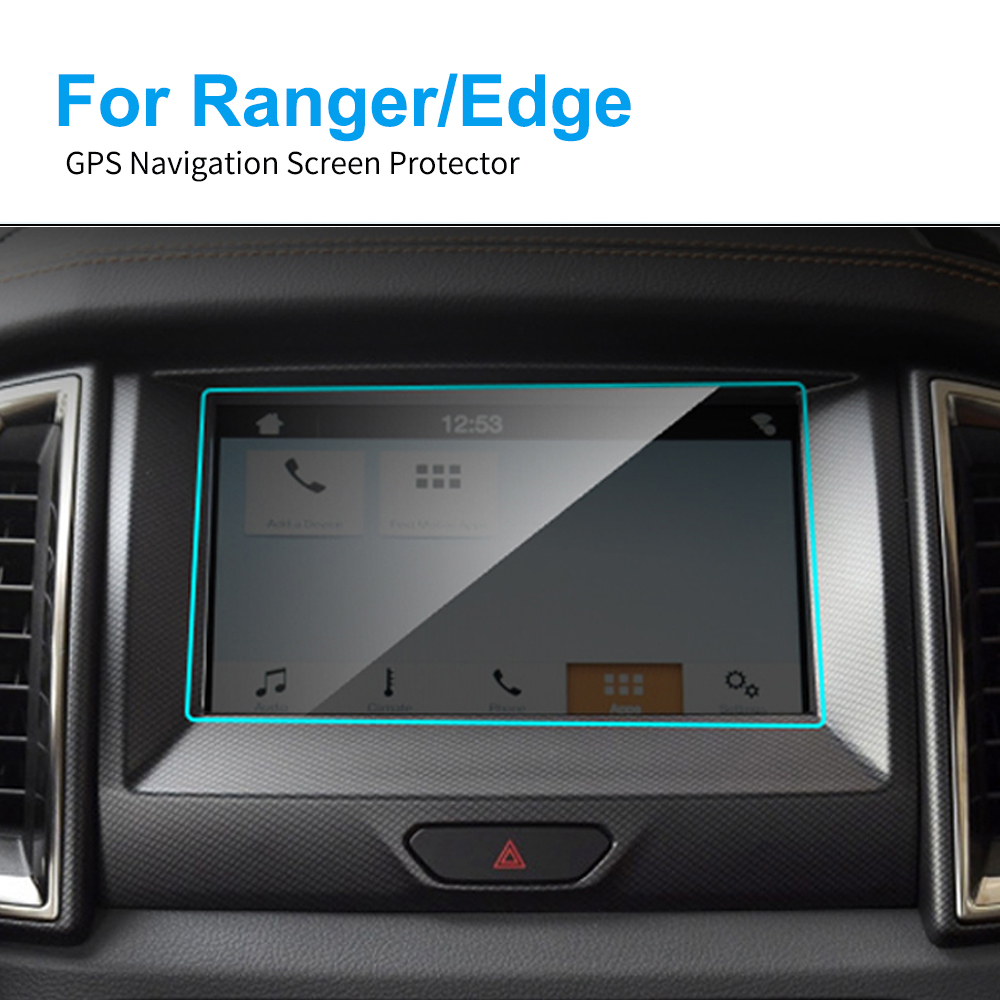 8 Inch TPU Car GPS Navigation Screen Protector Film For Ford Edge SE SEL ST Titanium 2015-2019 For 2019 Ranger XL XLT LARIAT
