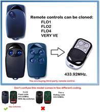 Flo 1 flo 2 flo 3 universal controle remoto transmissor porta da garagem fob 433.92mhz código fixo