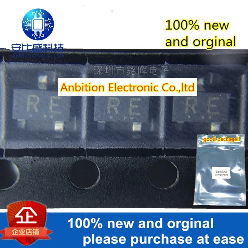 10pcs 100% New And Orginal RN2425 Silk-screen RE SOT23 PNP 50V 800mA In Stock