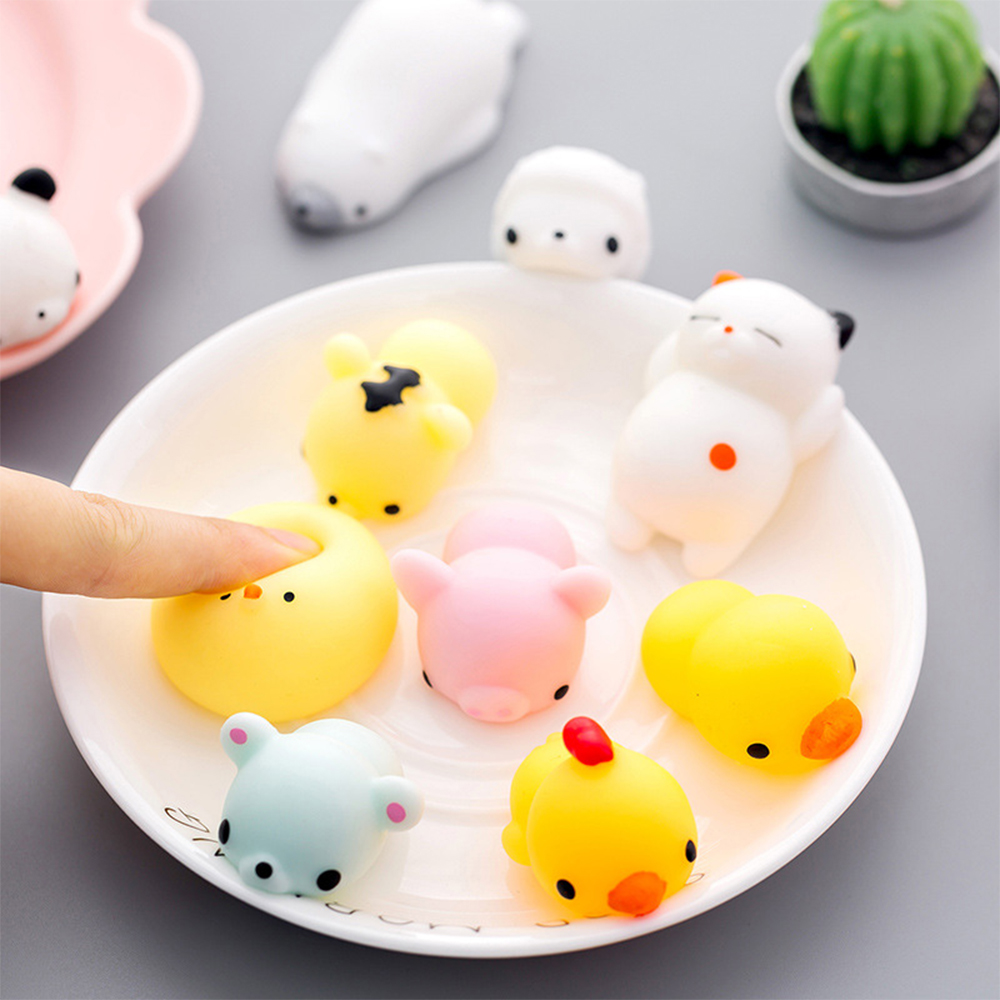 3pcs  Mini Cute Squishy Jumbo Cat Squeeze Healing Fun Kids Fidget Baby Toys Gift Antistress Reliever Decor