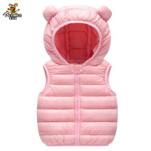 Hoodies Outwear Vest Coat Cotton-Padded Warm Baby-Boys-Girls Winter Children New Infant
