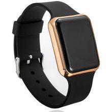 Montre numérique hommes femmes unisexe montres 24 heures électronique montre-bracelet LED cadran carré Sport militaire mâle horloge reloj hombre