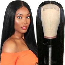 Парики из натуральных волос на шнурке, 4 × 4, парики из натуральных волос на шнурке, прямые человеческие волосы для черных женщин