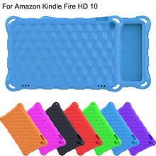 Tablet case cover For Amazon Kindle Fire HD 10 2017 7th Gen funda Kids Safe EVA Shock-proof Case Cover new style arrival(China)