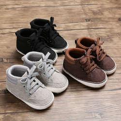 2019 милая детская обувь для мальчика, одноцветная мягкая подошва, Нескользящие кроссовки на шнуровке для детей 0-18 месяцев
