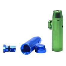 Metal Snuff-Dispenser Snorter Sniffer Bullet Sunff 1pc Rocket 16mmx47mm Plastic/19mmx53mm