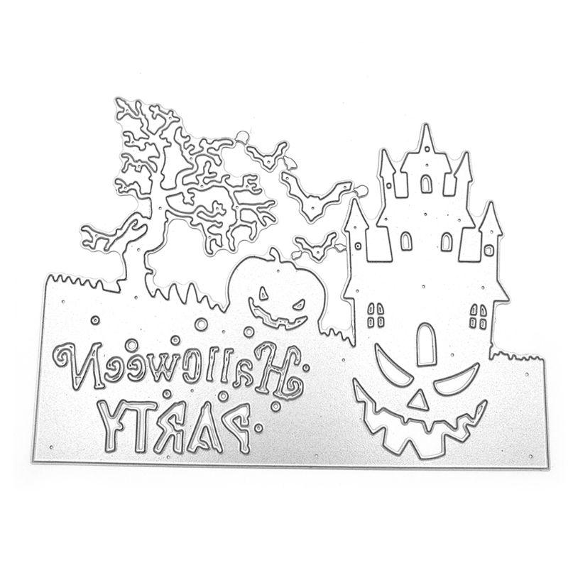 Halloween Ghost Frame Metal Cutting Dies Stencil DIY Scrapbooking Album Stamp