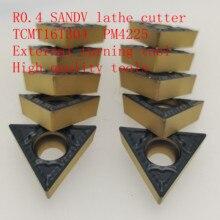 R0.4 SANDV high quality lathe tool TCMT16T304 PM4225 carbide tool, external turning CNC