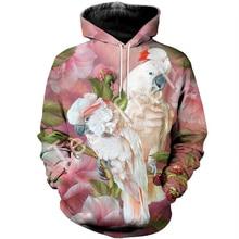 Tessffel animal New Fashion Harajuku casual  3D Printed Hoodie/Sweatshirt/Jacket/shirts Mens Womens hiphop parrot bird style-3