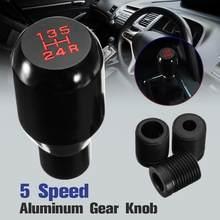 Botão de deslocamento do carro universal 5 velocidade liga alumínio manual da engrenagem vara shifter shift knob pommeau levier vitesse pomo cambio marchas