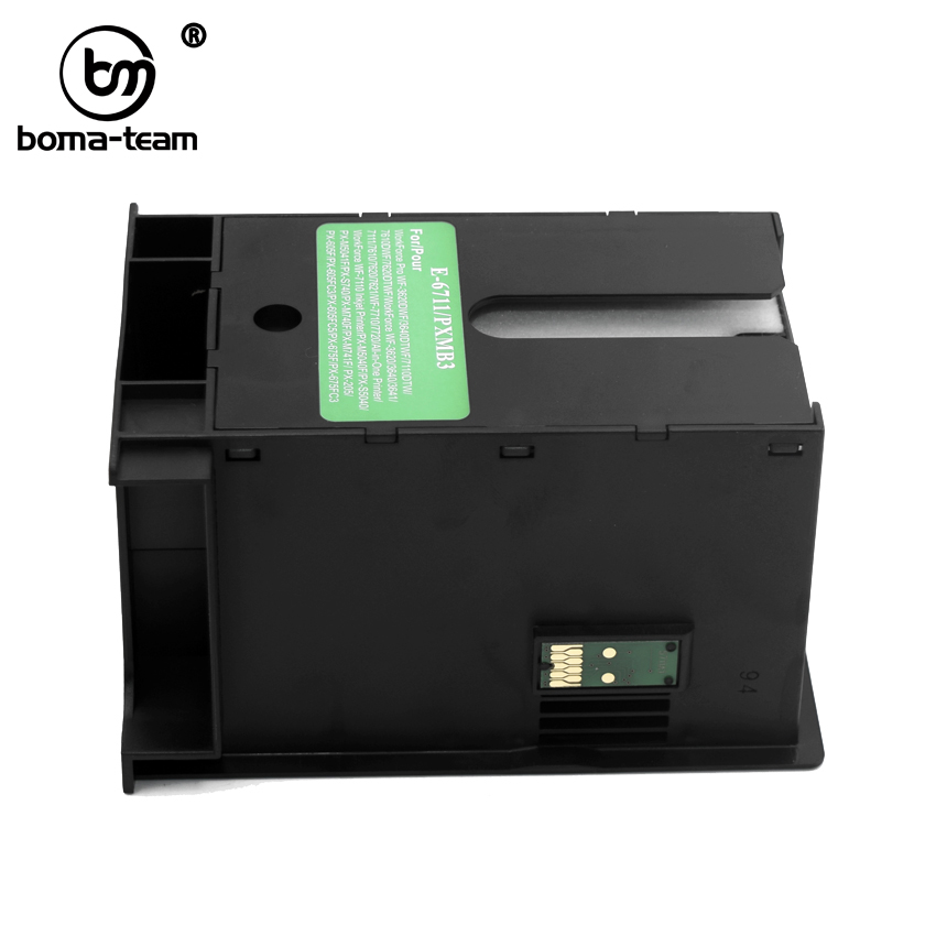 6711 T6711 Maintenance box For Epson WF 3620 3640 WF 7110 WF 7610 WF 7620 WF 7710 WF 7715 WF 7720 3450 3530 3010 L1455 et 16500|Printer Parts| |  - title=