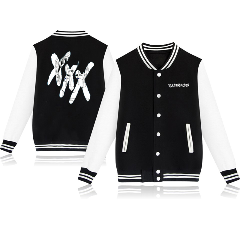 Autumn Lovely Harajuku Streetwear Baseball Uniform  XXXTentacion Baseball Jackets And Coats  Women/Men Casual Sportswear