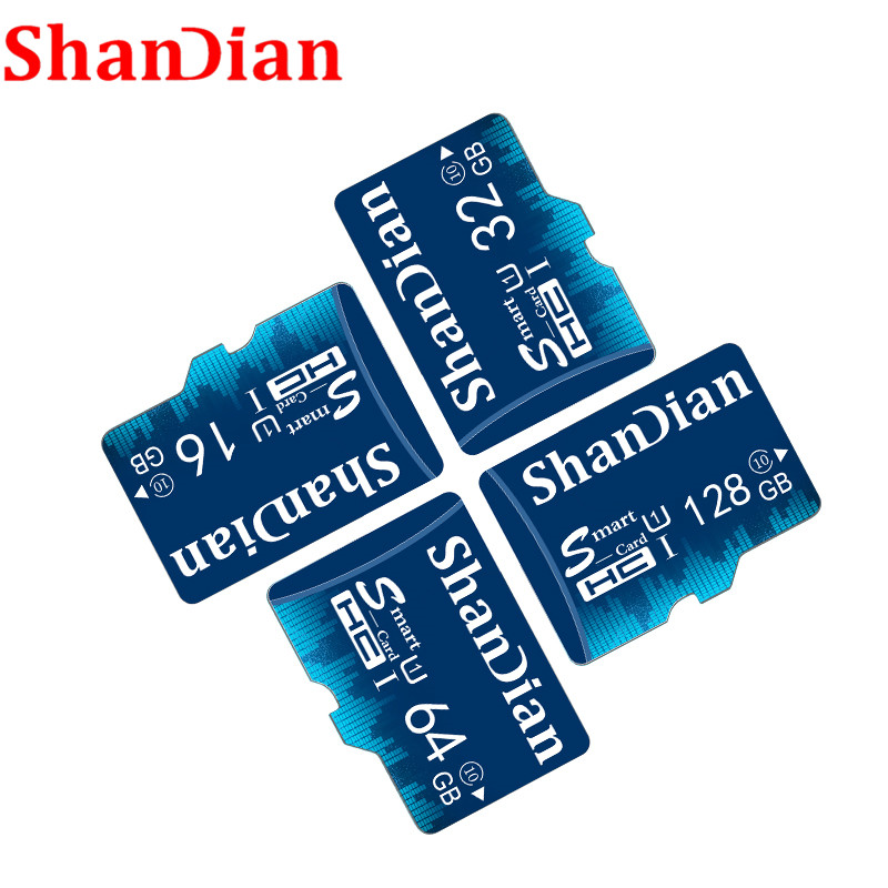 SHANDIAN Real Capacity Memory Card 64GB Smast Sd Card 32GB Class10 Smastsd Card High Speed For Phones MP3 Memory Card