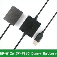 5V USB NP-W126 CP-W126 Dummy Battery Adapter  Plug DC Power Bank For Fujifilm X-E2S X-E3 X-H1 X-M1 X-T1 X-T2 X-T3 X-T10 X-T20 x