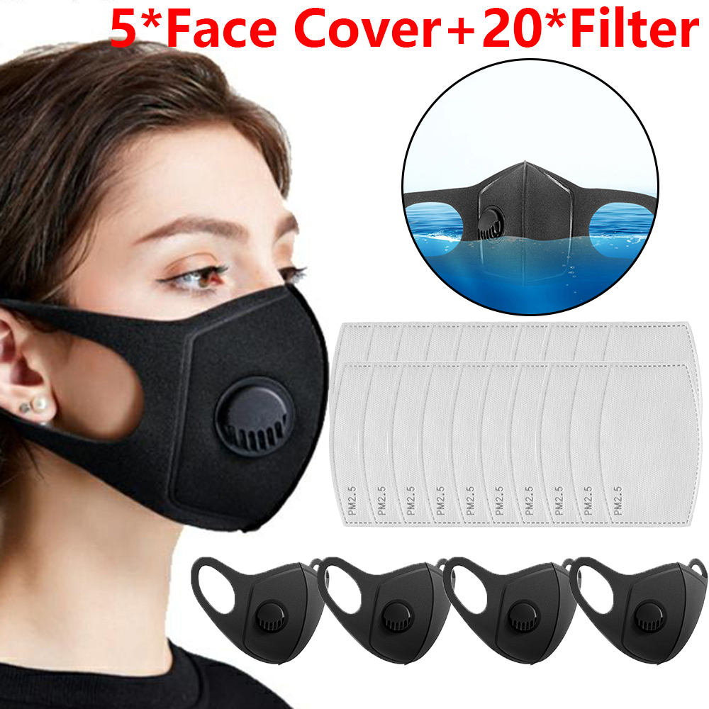Washable Anti-Fog Haze Face Mouth Cover Protetion Filter Respirator-Breathable High Quality Face Cover Mask Filter Element Kit